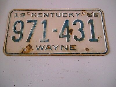 Vintage 1965 Kentucky CAR LICENSE PLATE  #970-981