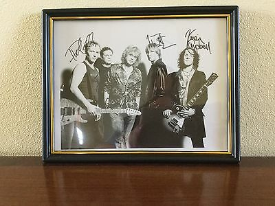 Def Leppard Autographed Photo And Concert Ticket - Mint