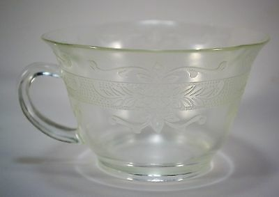 Depression Stippled Rose Band Clear by MacBeth-Evans Cup Mug Pressed Glass