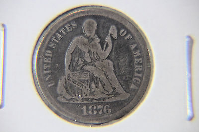 1876 10C Liberty Seated Dime - Lot # DLS 180