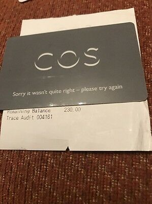 Cos Gift Card £230