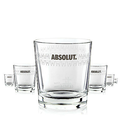 6 x Absolut Vodka Glas / Gläser Rocks Design Longdrink Gastro Bar Deko NEU