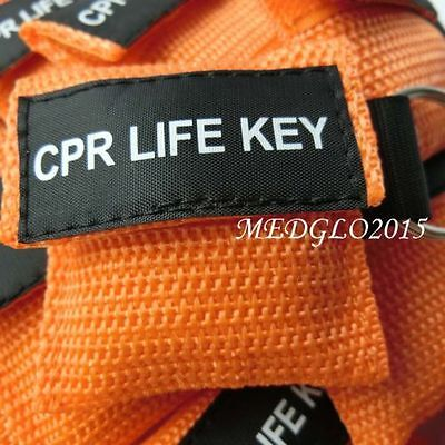 50pcs/lot Orange CPR MASK WITH KEYCHAIN CPR FACE SHIELD AED First AID