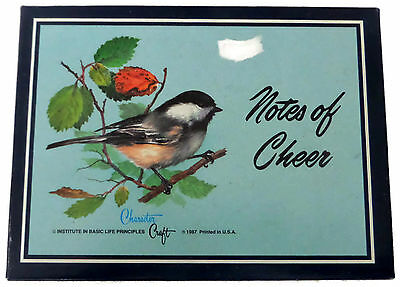 Box Set of 18 Vintage Chickadee Notes of Cheer Blank Notecards With Bible Verses