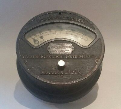 Eclipse Voltmeter Model 159 Weston Electrical Instrument Co. U.S.A. 1898