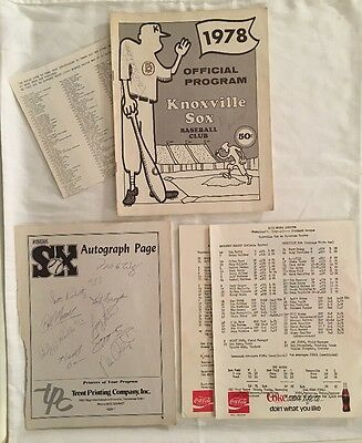 1978 Knoxville White Sox Official Program Harold Baines Signed Players Champions