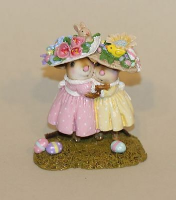 Wee Forest Folk Mousey's Easter Bonnets M-553a Eggs on Ground Bunny Chick