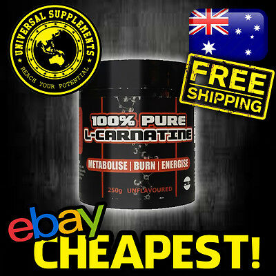 100% Pure L-Carnatine Growth Labs Australia 250G Unflavoured