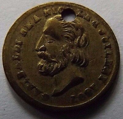 1807 Garibaldi Italian Independence Token/medal! Very High Grade! Very Rare!