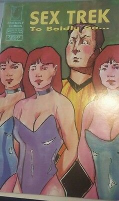 1992 Sex Trek To Boldly Go 1  Friendly Comics VF Adults Only Comic book