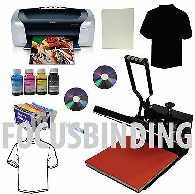 New Heat Press 15x15,Epson Printer,Refillable Ink cartridge,Tshirt Heat Transfer