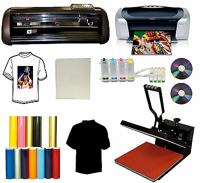 "13"" METAL PU Vinyl Cutter Plotter,15x15 Heat Press,Printer,Cartridges,Vinyl,Sign"