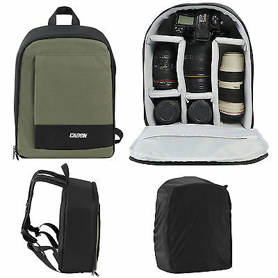 Waterproof Caden DSLR SLR Camera Bag Backpack Shoulder Rucksack Canon Nikon