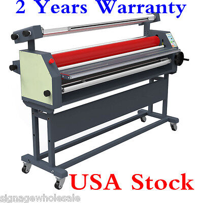 "US Stock-110V 63"" Full -auto Wide Format Roll Heat Assisted Cold Laminator+Stand"