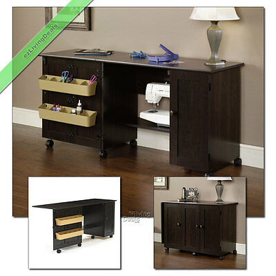 Sauder Sewing And Craft Table Wood Storage Folding Organizer Tables With  Wheels