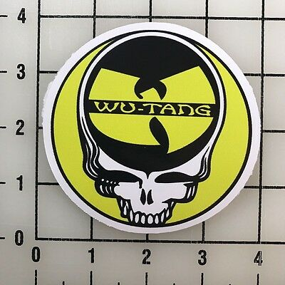 "Wu Tang Clan Grateful Dead 4"" Wide Vinyl Decal Sticker BOGO"