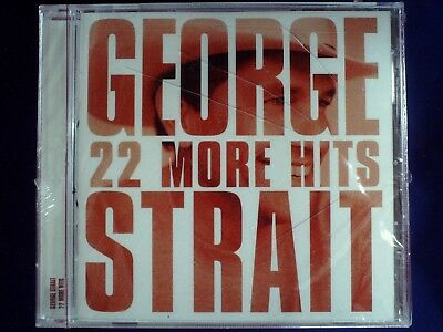 22 More Hits - George Strait SEALED CD Jewel Case Cracked