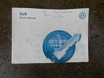Volkswagen Golf Mk3 Models 1992 - 1998 Owners Manual / Hand Book