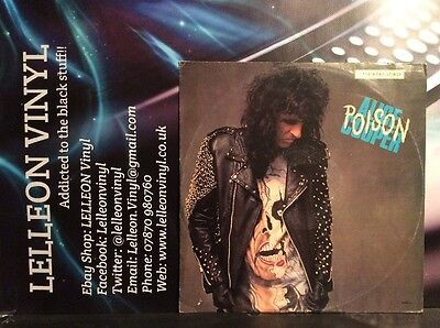 "Alice Cooper Poison 12"" Single Vinyl 655061 Rock 80's"