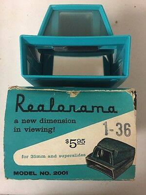 Vintage Realorama 35mm & Super Slide Viewer In Box By Realist