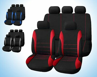 Universal Car Seat Cover 9 Set Full Seat Covers for Crossovers Sedans Auto Deco