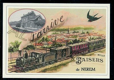 NEREM  -- .... TRAIN ...  souvenir creation moderne serie numerotee