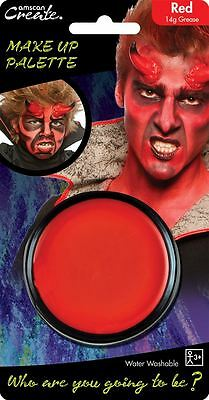 14g Grease Based Theatre Face & Body Paint Make Up Palette Pallet Red