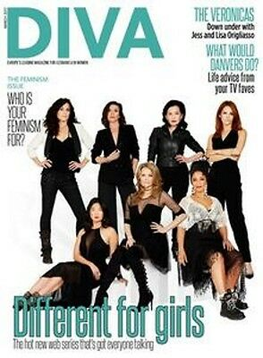 Diva Magazine March 2017 -  - Feminsim Issue / Lesbian Lifestyle / The Veronicas