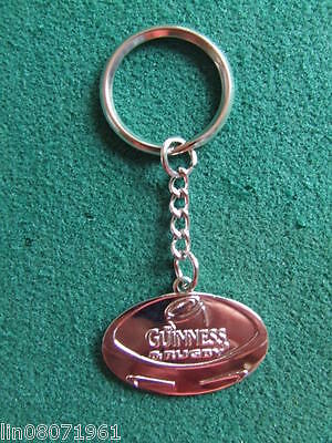 Guinness & Rugby Metal  Keyring . New.
