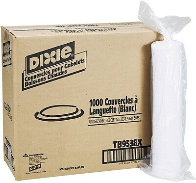 Dixie Plastic Lids For 8 Oz Hot Drink Cups, 1000 Count
