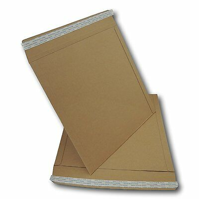 "10 x  12"" / LP STRONGEST ALL BOARD PEEL & SEAL BROWN RECORD MAILERS 625GSM"