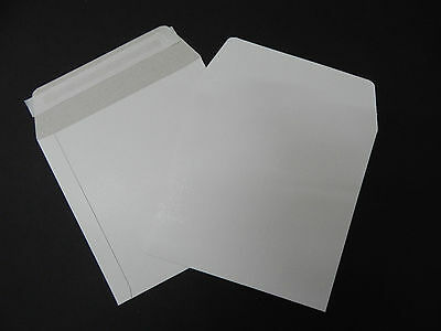 """50 Strong 12"""" Record Vinyl White Cardboard Self Seal Mailers Envelopes -350 Gsm"""
