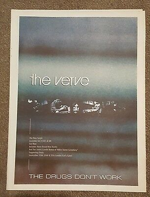 The Verve the Drugs don't work 1997 press advert Full page 30 x 40cm mini poster