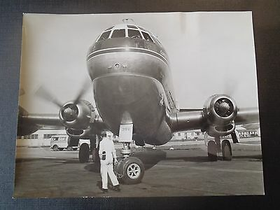 Photo Originale Des Annees 50 Boeing Strato Clipper A Orly Pan American Airways