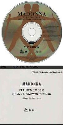 MADONNA I'll Remember (Theme From With Honors) PROMO CD