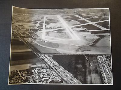 Photo Originale Des Annees 50 Aeroport Paris Orly Vue Generale 1954