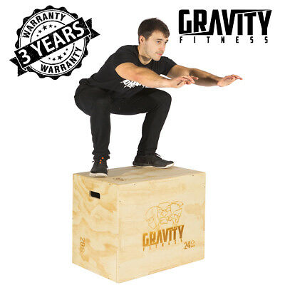 "Gravity Fitness 3 in 1 30 X 20 x 24"" Plyometric jump Box - Plyo Box"
