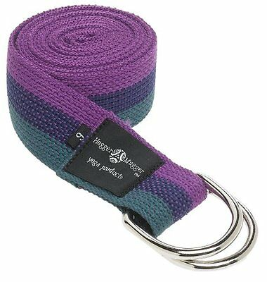 Hugger Mugger D-Ring Yoga Strap, Multi, 6-Foot