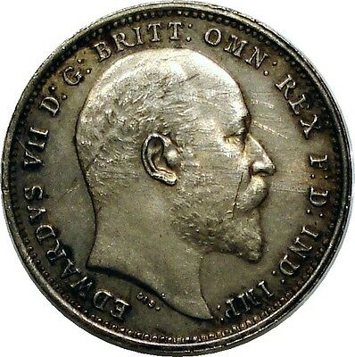 Great Britain 1905 Edward VII 4 Pence, Groat PL Silver Coin KM#798
