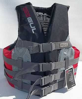 Gul Adults Buoyancy / Floatation Aid Jacket Impact Vest 4 Buckle Grey / Red