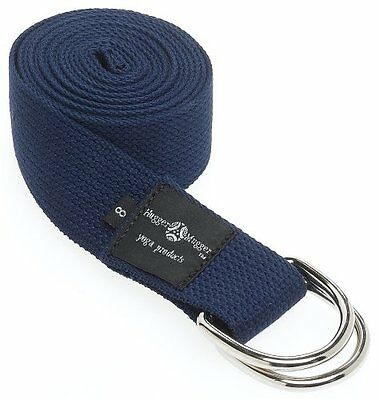 Hugger Mugger D-Ring Yoga Strap 8-Foot (Navy)