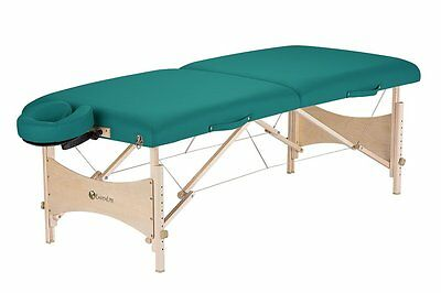 Earthlite Harmony DX Portable Massage Table Package, Teal
