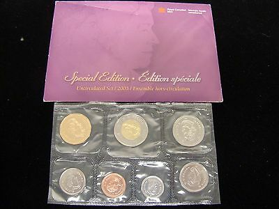 2003 CANADIAN MINT SET UNCIRCULATED 7-Coins Royal Canadian Mint Special Edition