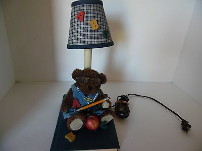 Lamp For Child's Room, Abc Lamp With Bear And Book