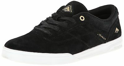 Emerica Men's The Herman G6 Skateboard Shoe, Black/White/Gold, 8 M US