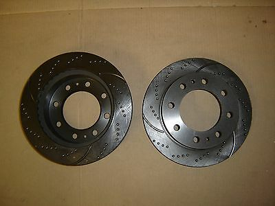 55056DS(FRONT 2pcs) Sport Dimpled Slotted Brake Disc Rotor