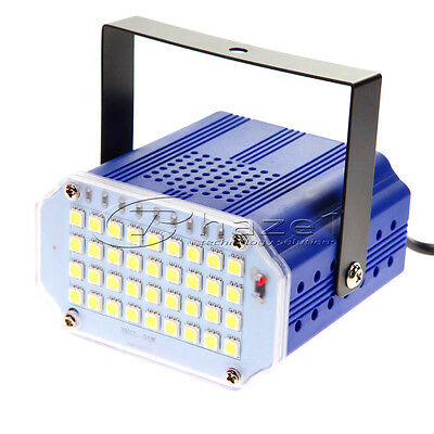 Strobe Light Bright 36 LED RGB White Variable Speed Auto Music Control Function