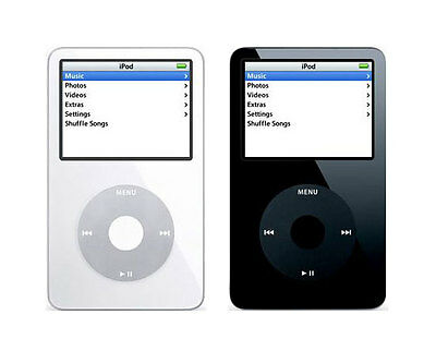 Apple iPod Classic 5th Generation - Black or White - 30 60 80 GB | Used Good (B)