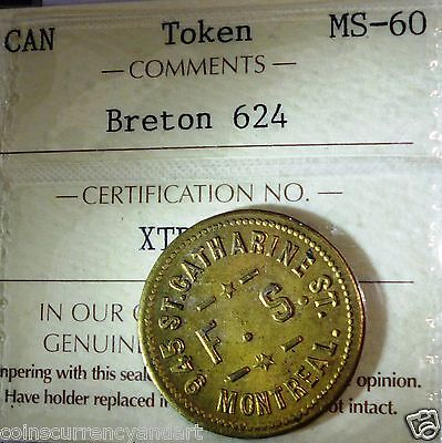Canada Token  Breton #  624. Iccs ( Good For 5 Cents In Trade)