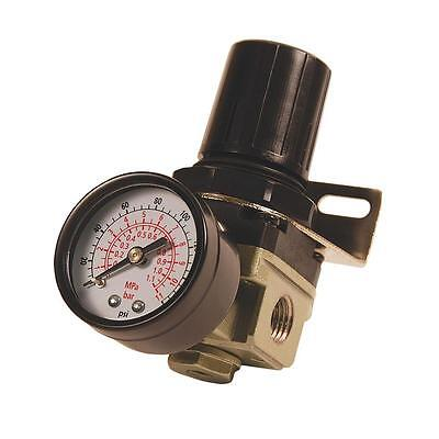Primefit 1/4 inch NPT Mini Air Compressor Regulator Gauge 145 PSI Part Accessory
